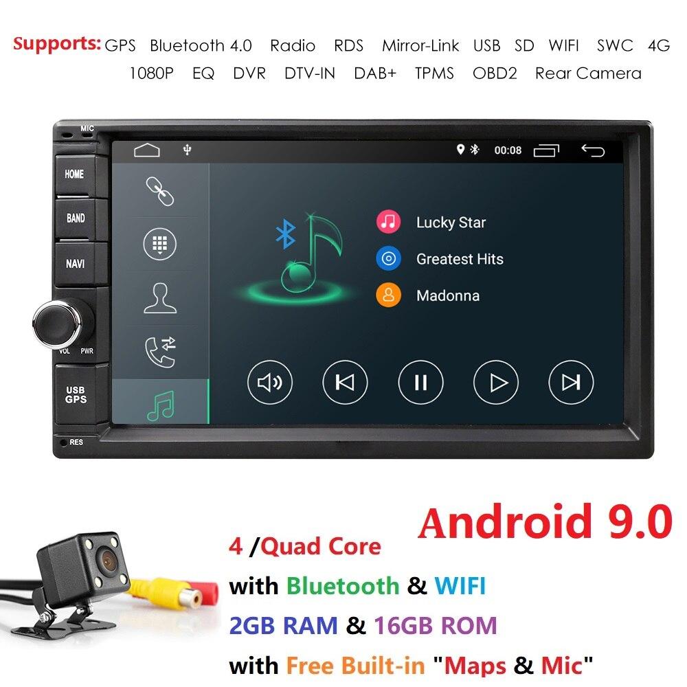 2g ram android 9.0 voiture dvd pour nissan qashqai x-trail almera note juke universel multimédia voiture gps lecteur de navigation