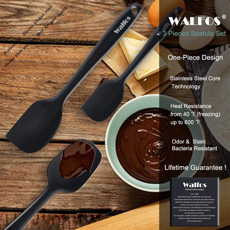 WALFOS set of 3 heat resistant Silicone Cooking Tools Kitchen Utensils Set baking pastry tools spatula spoon turner accessories in Cooking Tool Sets from Home Garden
