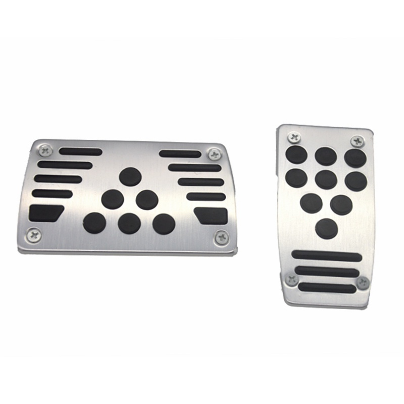 car styling Aluminum Automatic car Transmission <font><b>2</b></font> pcs Non-Slip Car Pedal Cover Set Kit Pedali Accelerator Pedal Brake Pedal image
