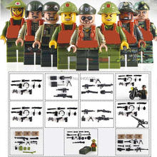 8 PZ compatible LegoINGlys military WW2 US army Vietnam war Building Blocks mini weapons figures bricks toys for children gift