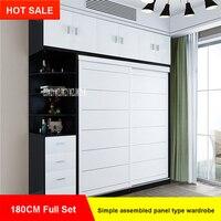 4285 5A3 простой и современный домашний Собранный панель деревянный шкаф гардероб мебель для спальни 2 двери деревянные Панель Одежда Шкаф 180 с