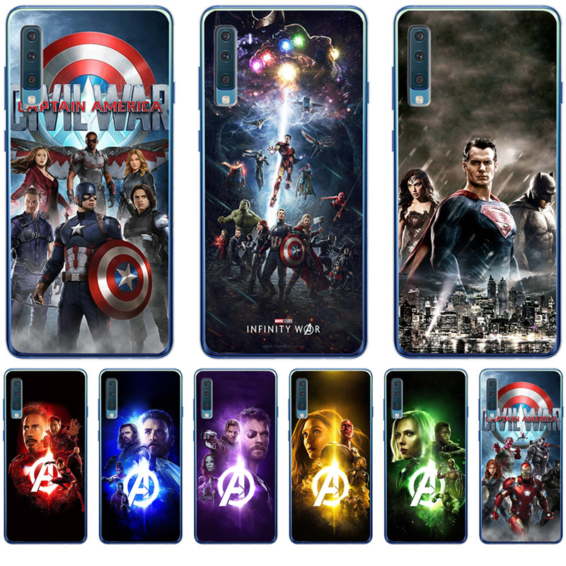 Luxury Marvel Avengers dead pool boy For <font><b>Samsung</b></font> Galaxy <font><b>A9</b></font> A8 A7 A6 A5 A3 <font><b>2016</b></font> 2017 2018 Case Cover Funda Coque Etui Capinha image
