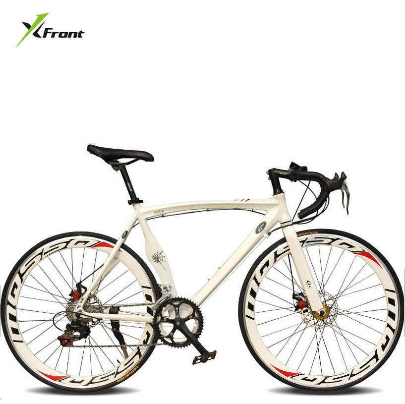 New Brand  City Bicycle Aluminum Alloy Muscle Frame 700CC Wheel 14/18 Speed Dual Disc Brake Bicicleta 52cm Bicycle