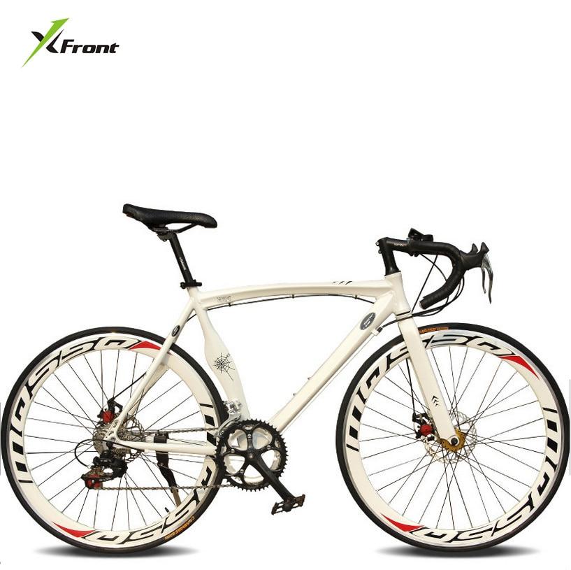 새로운 브랜드 도시 자전거 알루미늄 합금 근육 프레임 700CC 휠 14/18 속도 듀얼 디스크 브레이크 bicicleta 52 센치 메터 자전거
