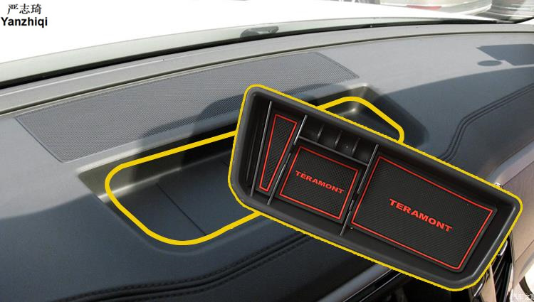 ABS Dashboard storage box cell phone holder box Car Styling Accessory for 2017 2018 Volkswagen VW Atlas Teramont Car Stickers     - title=