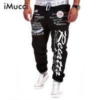 Imucci بنطلون ركض الرجال الساخن بيع عارضة إلكتروني طباعة فضفاض الحريم بارد طويل فضفاض sweatpants ارتداء السراويل حجم M-3XL