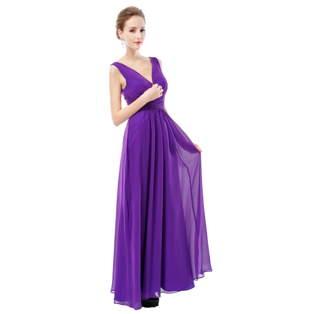ruthshen 2018 Bridesmaid Dresses Long Cheap Chiffon V Neck Sexy Purple   Wine  Red   Navy Blue   Coral Vestido Madrinha-in Bridesmaid Dresses from  Weddings ... 95a745f793be