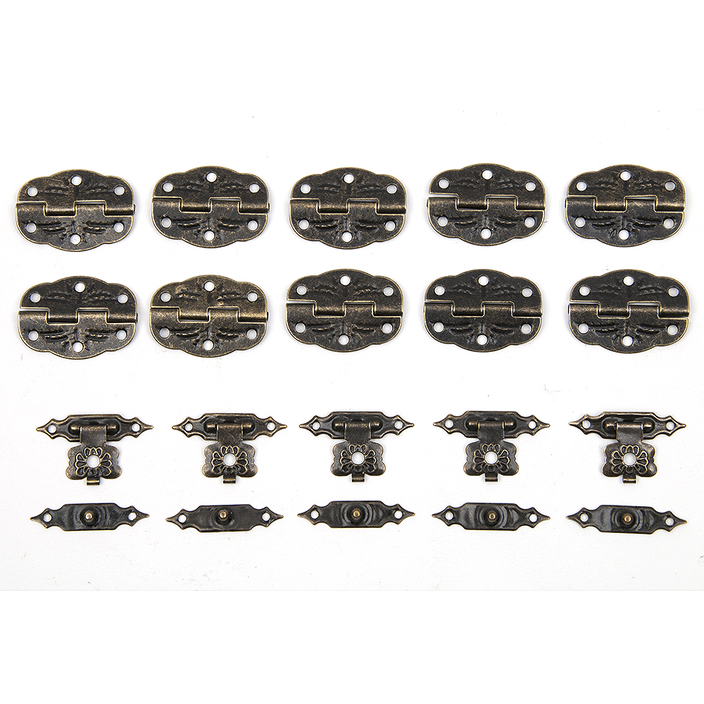 15pcs/set Antique Drawer Wood Box Cabinet Door Hasp Lock Hook Latch  Butterfly Hinges For Jewellery Fittings Furniture Decorative - Antique Door Fittings Reviews - Online Shopping Antique Door