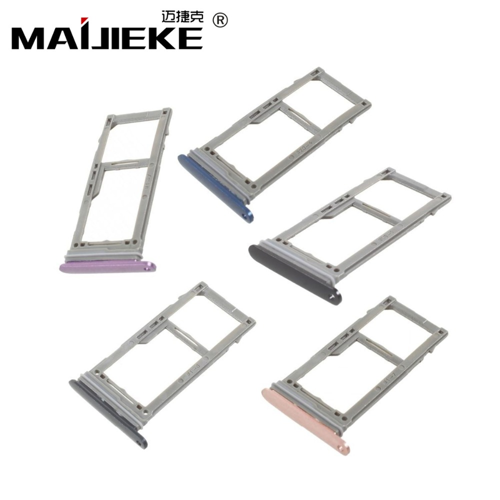 1XMAIJIEKE Sim Tray Holder For Samsung Galaxy S9&S9 plus Single&Dual SIM Card Tray Slot Holder Replacement Part+Eject Pin