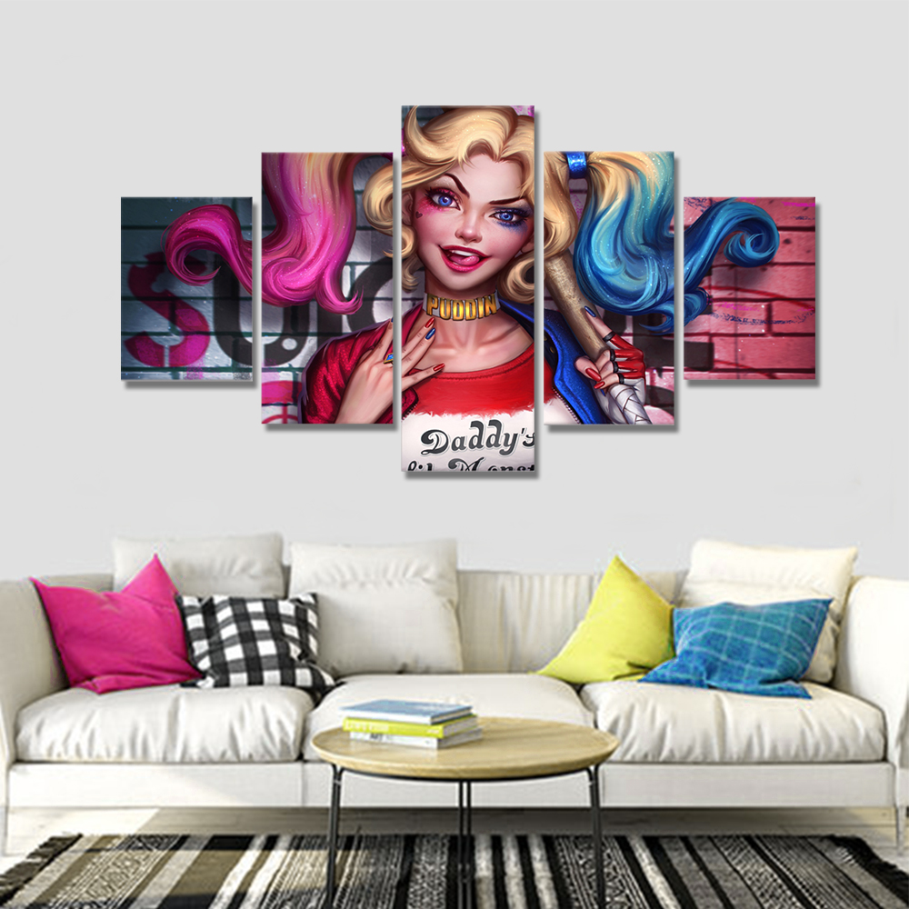 Unframed HD Canvas Prints Clown Female Giclee Wall Decor Prints Wall Pictures For Living Room Wall Art Decoration Dropshipping