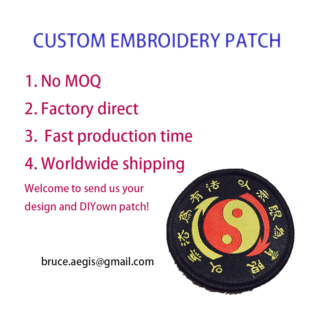 Custom Embroidered Patch FLAG Personalised TAG NAME TEXT National Backpack Badge 08 in Patches from Home Garden