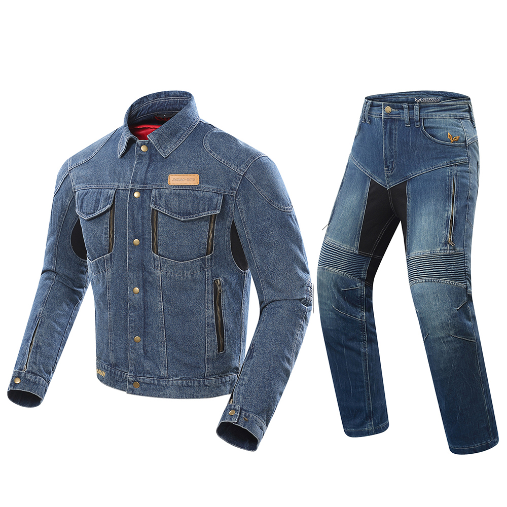 DUHAN Motorcycle Jacket Men Riding Jacket Chaqueta Windproof Moto Motocross Jeans Jacket Protective Gear Whith Removable LiningDUHAN Motorcycle Jacket Men Riding Jacket Chaqueta Windproof Moto Motocross Jeans Jacket Protective Gear Whith Removable Lining