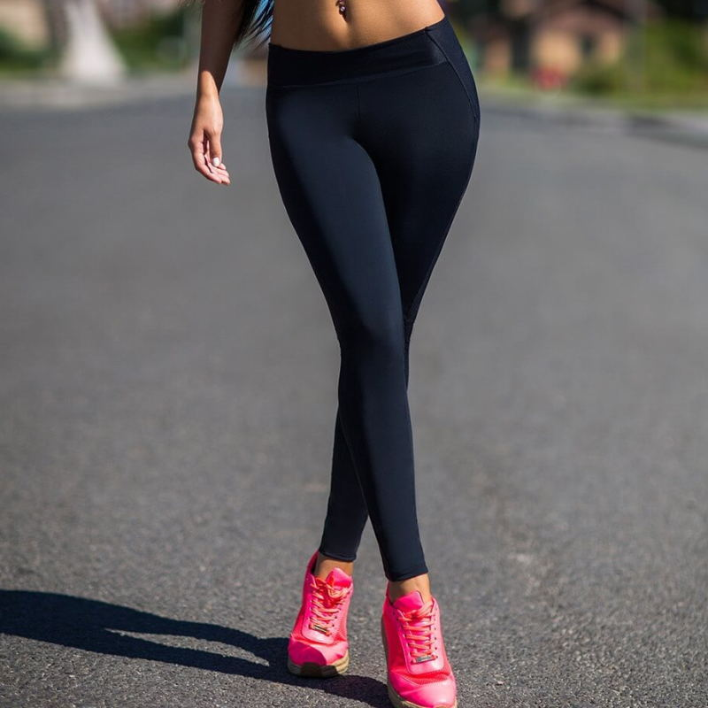 Yoga Pants Black High Waist Workout 1