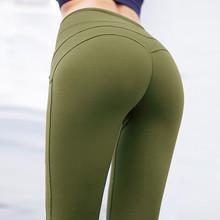 CHRLEISURE Kobiety Workout legginsy push up fitness legginsy kobiece mody patchwork legginsy mujer 3Color tanie tanio Wysokiej Dziane Na wolnym czasie Poliester spandex Legginsy fitness Standardowych Długość kostki Casual Legginsy damskie