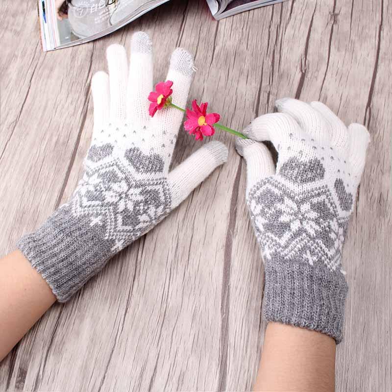 Aliexpress Buy Children Girls Winter Warm Snowflake Gloves