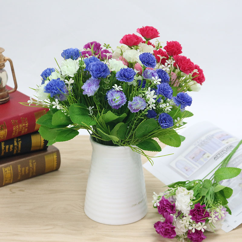 Flone Silk Daisy Bouquet Artificial Flowers Fake Flowers Beautiful Daisy For Wedding DIY Indoor Living Room Decoration Flores