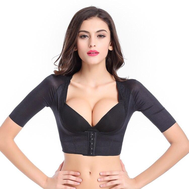 One-piece Shaper Sexy Women Shapers Hot Shaper Push Up Short Sleeve Crop Tops Slimming Arm Body Shaperwear