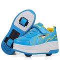 Kid Roller Shoes Fashion Sneakers Boys Girls Shoes With Two Wheels Children Double Roller Skate Shoes For Girls Boys Teenage