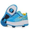 Kid roller shoes moda sapatilhas meninos meninas shoes com duas rodas crianças double roller skate shoes para meninos meninas adolescentes
