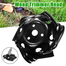 Black Tray Trimmer Head Grass Mowing Metal Lawnmower Head Lawn Mower Part for Garden Mower Weeding Tool
