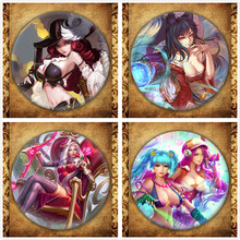 Game League Of LOL Display Badge Fashion Legend Hero Figure Jinx Timo Leesin Brooches Pin Bag Decoration Jewelry Accessories