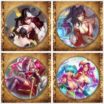 Game League Of LOL Display Badge Fashion Legend Hero Figure Jinx Timo Leesin Brooches Pin Bag Decoration Jewelry Accessories image