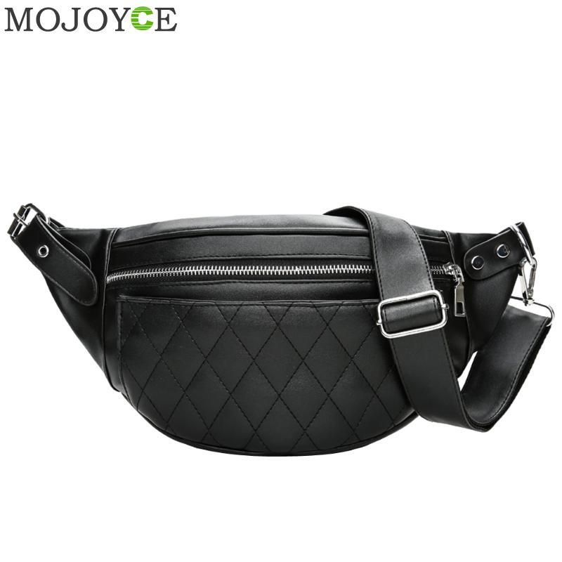 Men Waist Bags PU Leather Men Women Solid Zipper High Quality Waist Bag Fanny Pack Bum Belt Bag Chest Bag Masculina Bolsos Mujer