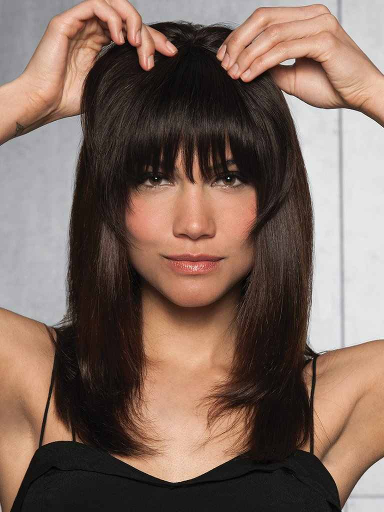 Detail Feedback Questions About Clip In Fringe Blunt Bangs Cute And