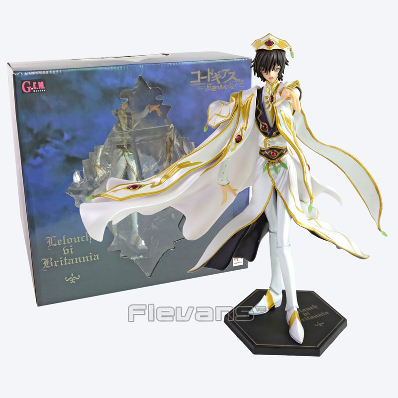Anime Code Geass R2 Lelouch Lamperouge Britannia Knight of Zero Emperor Ver. PVC Figure Collectible Model Toy 27cm code geass lelouch of the rebellion beach ball c c anime sexy pvc action figure collectible model toy l1386