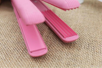 2 Pcs New Style Mini Pink Ceramic Electronic Hair Straightener Styling Tools Electric Iron Ion Straighter