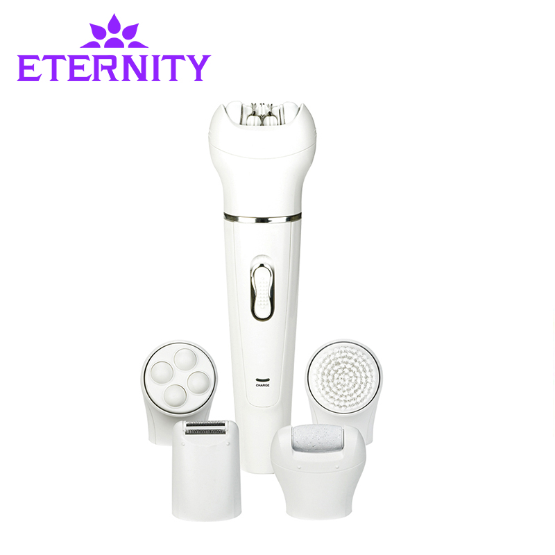 5 in 1 Women Shaver Massage Device Electric Shaver Epilator Face Cleanse Brush Lady's Shaver Callus Remover Armpit Razor ET-37