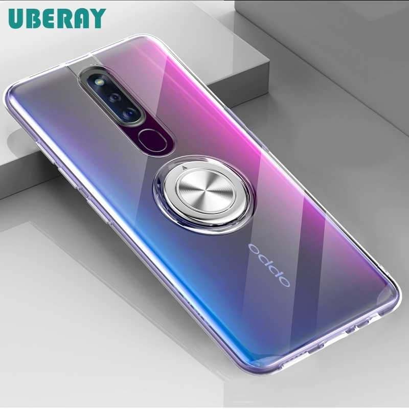 For OPPO F11 Pro Reno K1 RX17 NEO F9 F9 Pro A7X Reno 10x zoom Case Cover Soft Transparent Protective Ring Stand Back Cover