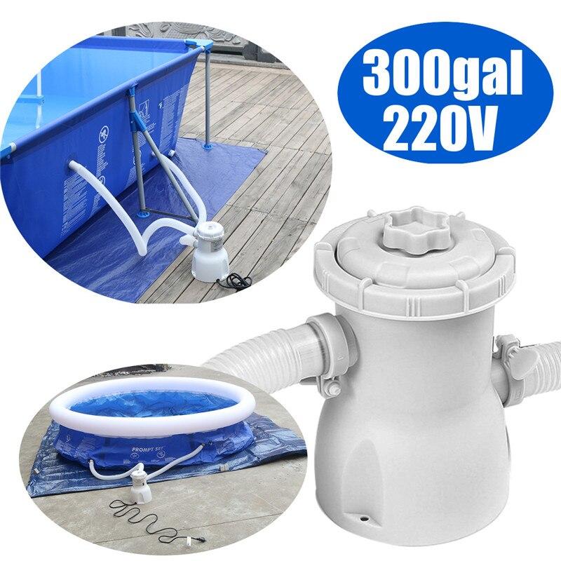 300 gal 220 v Électrique Piscine Filtre Pompe Pour Piscines Hors Sol De Nettoyage Outil ROYAUME-UNI - 2