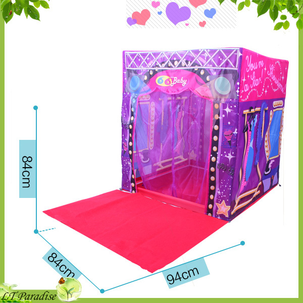 Aole Hw Fashion Super Star Stage House Tent For Kids Toy With Mat Outdoor Child Toys Brinquedo