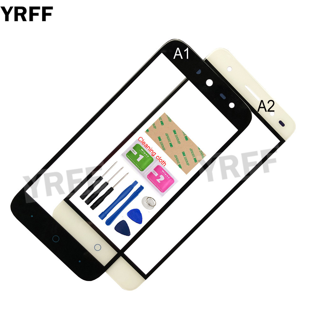 5.0'' Mobile Outer Glass For <font><b>ZTE</b></font> Blade A2 A1 C880U <font><b>C880S</b></font> Front Glass Panel Replacement (No Touch Screen Digitizer Panel ) image
