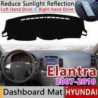 Pour Hyundai Elantra 2007 2008 2009 2010 HD Avante I30 tapis anti-dérapant tableau de bord couverture Pad parasol Dashmat protéger accessoires de voiture