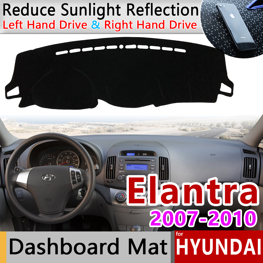 For Hyundai Elantra 2007 2008 2009 2010 HD Avante I30 Anti-Slip Mat Dashboard Cover Pad Sunshade Dashmat Protect Car Accessories