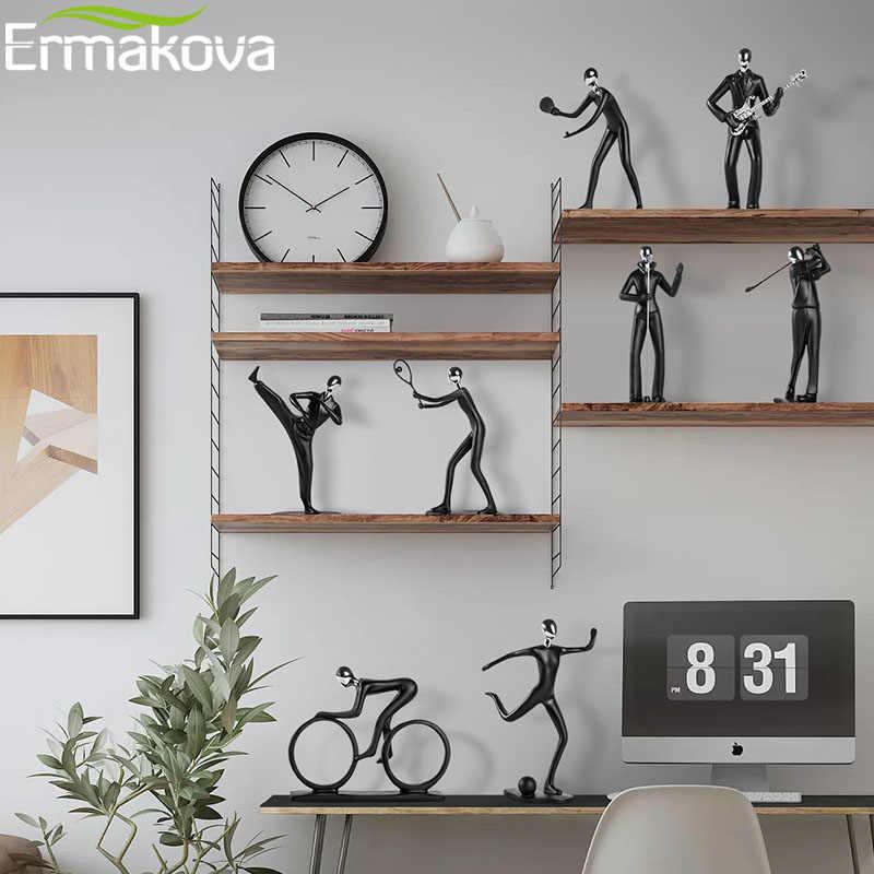 ERMAKOVA Modern Abstract Resin Sportsman Figurine Athlete Sculpture  Statue Home Office Living Room Decor