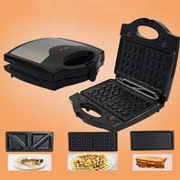 750W Electric Sandwich Maker BBQ Toaster Kitchen Breakfast Waffle Bread Machine 23cm x 22.5cm x 9cm