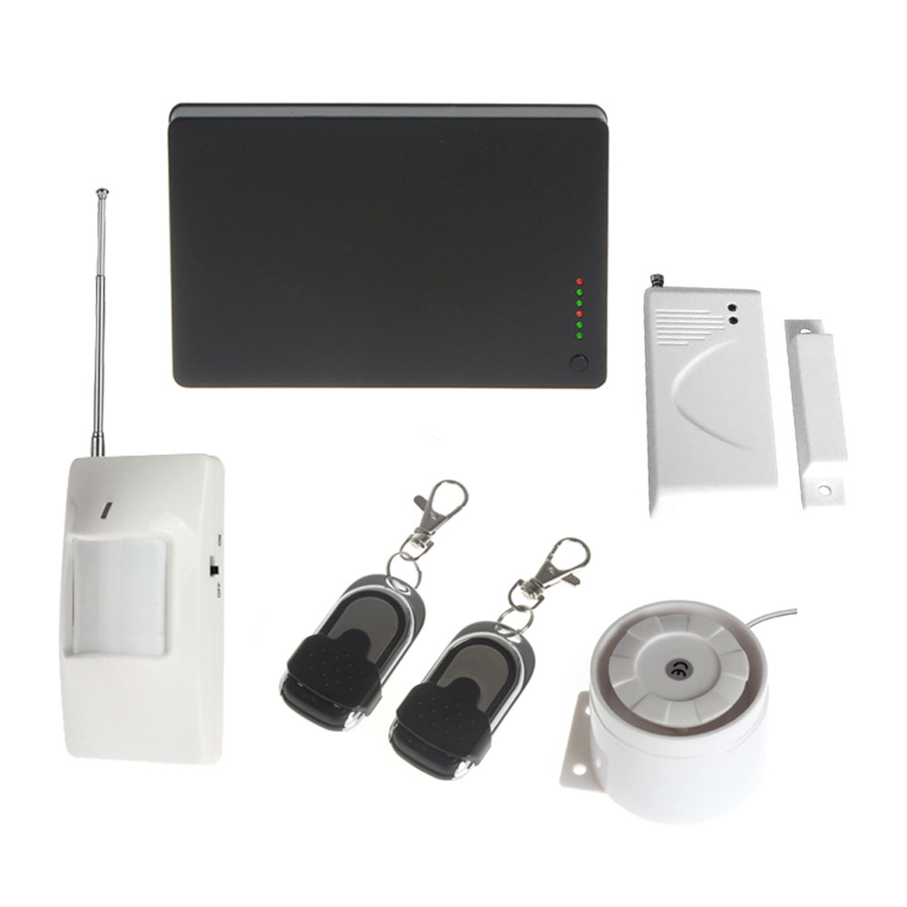 Home Security Wireless GSM SMS Burglar Detector Sensor Auto-Dial Alarm System Support iOS application and Android application gsm lcd wireless 433 smart burglar security alarm system detector sensor kit remote control auto dial sms outdoor siren 105db