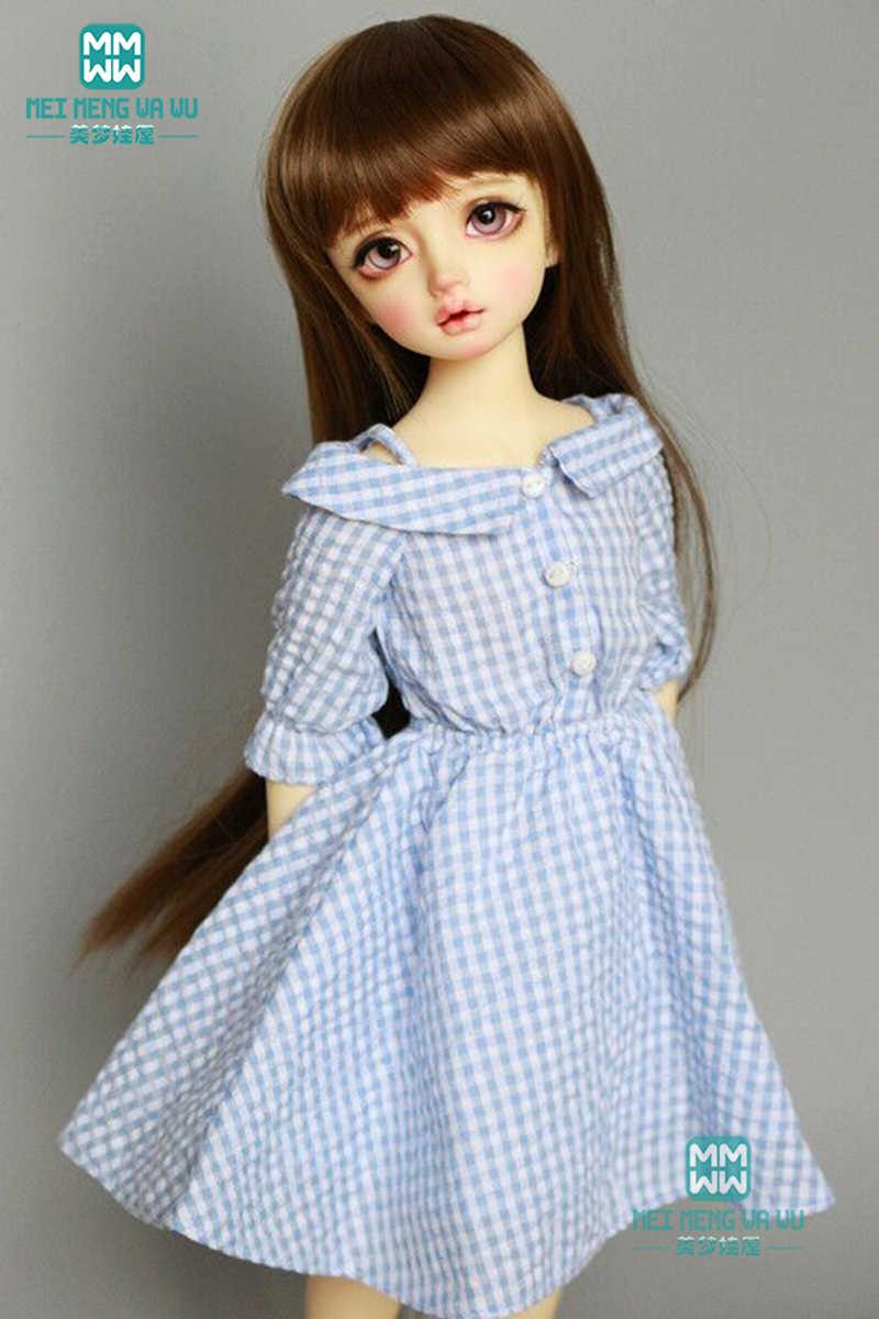 BJD בובת בגדי 43cm MSD 1/4 BJD בובת אופנה אדום משובץ שמלת איכות שמלת טמפרמנט
