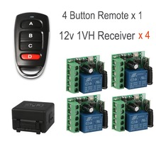 QIACHIP Remote Control Transmitter & 433Mhz Wireless Remote Control Switches RF Relay Receiver 1-Ch Output With Learning Button nice uting ce fcc industrial wireless radio double speed f21 4d remote control 1 transmitter 1 receiver for crane
