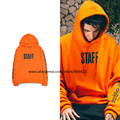 High quality New 2016 hip hop streetwear men unisex justin bieber staff Purpose Tour oversized hoodie in orange size S-3XL