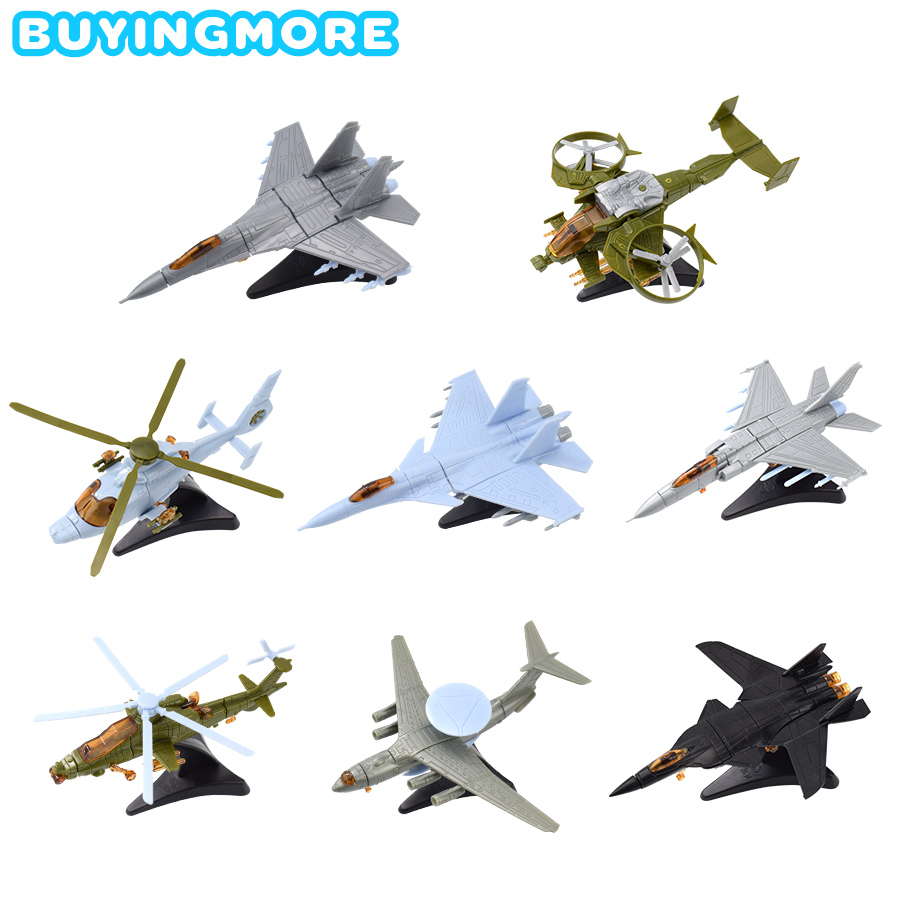 1 PCS Assemble Aircraft Model Kit Mini Kids Toys For Boys Handmade Fighter Assembly Plastic Model Toys Building Blocks Gifts