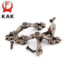 KAK-poignée en alliage de Zinc, 10 pièces, 43x10MM, tractions antiques ton Bronze, tiroirs en bois, quincaillerie de meubles