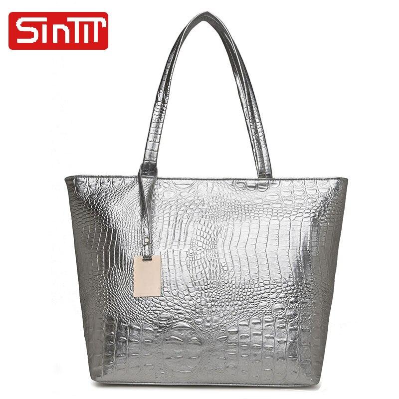 SINTIR 2018 Famous Designer Casual Large Capacity Women Handbags Alligator Female Women Totes High Quality Leather Shoulder Bags