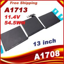 11.4 v 54.5wh/4781 mah A1713 Pin máy tính xách tay Đối Với Apple MacBook Pro 13 A1708 2016 MLL42CH/MỘT MLUQ2CH/MỘT