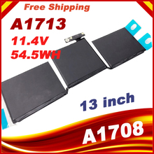 11.4v 54.5wh/4781mah A1713  laptop Battery For Apple MacBook Pro 13 A1708 2016 MLL42CH/A MLUQ2CH/A