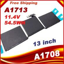 Batterie dordinateur portable 11.4 v 54.5wh/4781 mah A1713 pour Apple MacBook Pro 13 A1708 2016 MLL42CH/A MLUQ2CH/A
