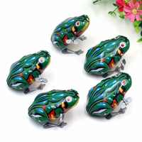Classic Iron Jumping Frog Wind Up Jumping Frog Iron Clockwork Toys Collectible Classic Kids Gift Baby Infant Wind Up Toys